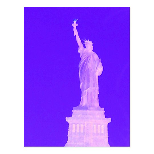 Statue of Liberty Patriotic USA America July 4th Postcard