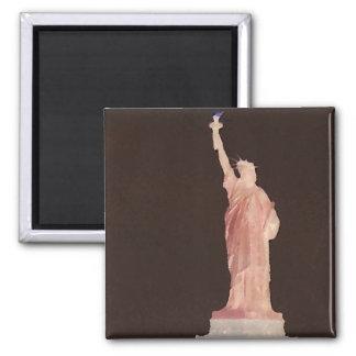 Statue of Liberty - Patriotic USA Designer Stuff 2 Inch Square Magnet