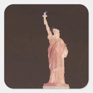 Statue of Liberty - Patriotic USA Designer Stuff Square Sticker