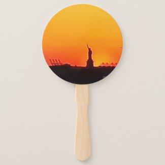 Statue of Liberty Photo on Hand Fan