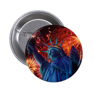 Statue of Liberty Pinback Button