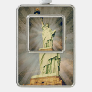 Statue of Liberty Silver Plated Framed Ornament