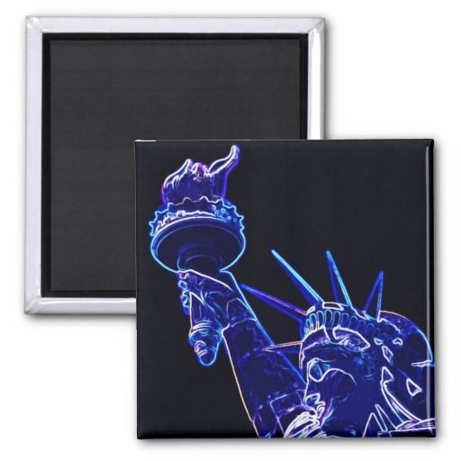 Statue of Liberty Pop Art 2 Inch Square Magnet