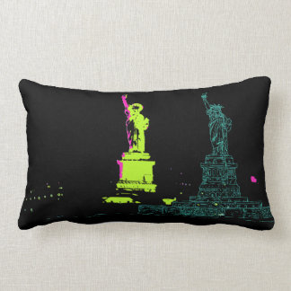 Statue Of Liberty Pop Art 2 Lumbar Pillow