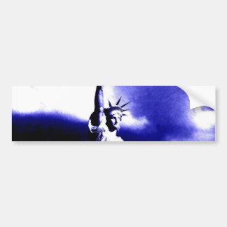 Statue of Liberty Pop Art Bumper Sticker