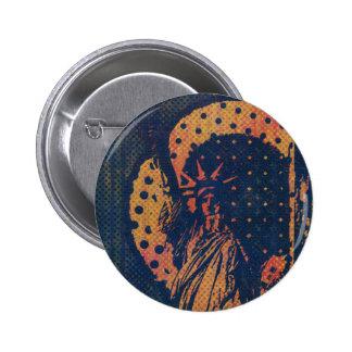 Statue of Liberty Pop Art Button
