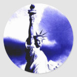 Statue of Liberty Pop Art Classic Round Sticker