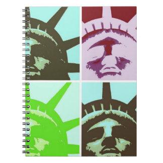 Statue of Liberty Pop Art Notebook