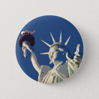 Statue of Liberty Pop Art Pinback Button