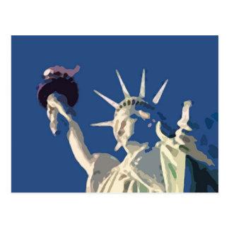 Statue of Liberty Pop Art Postcard