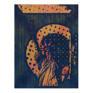 Statue of Liberty Pop Art Postcard