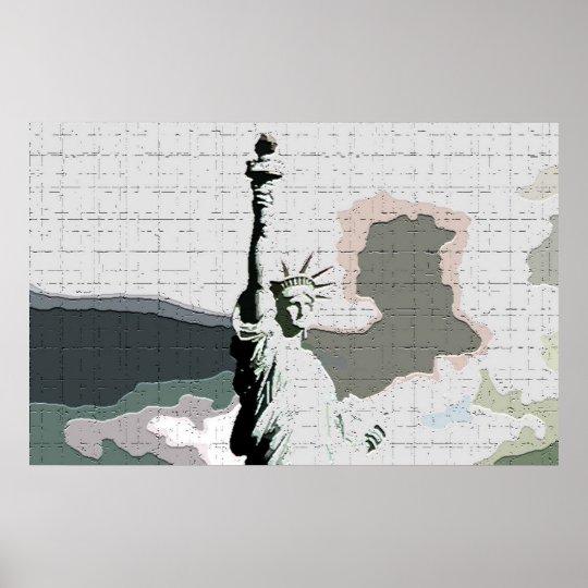 Statue of Liberty Pop Art Poster Print