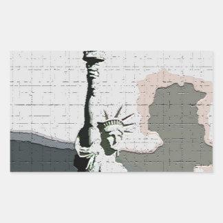 Statue of Liberty Pop Art Rectangle Sticker