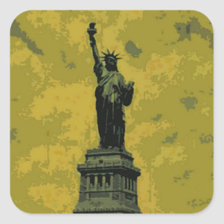 Statue of Liberty Pop Art Square Sticker
