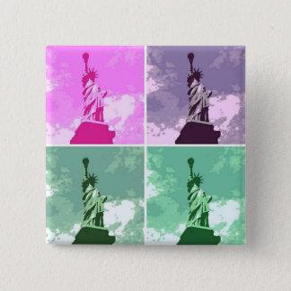 Statue of Liberty Pop Art USA Symbol Button