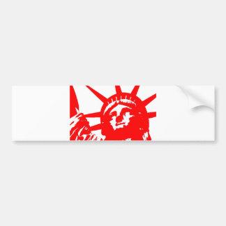 Statue of Liberty Pop Art USA Symbol Car Bumper Sticker