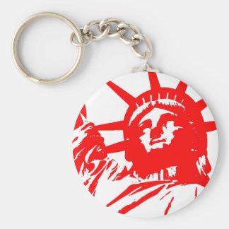 Statue of Liberty Pop Art USA Symbol Keychain