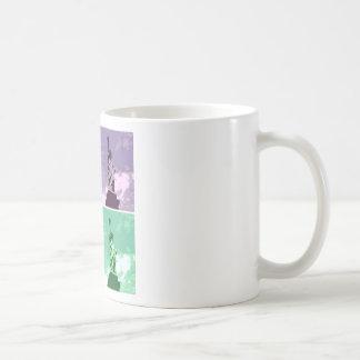 Statue of Liberty Pop Art USA Symbol Classic White Coffee Mug