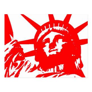 Statue of Liberty Pop Art USA Symbol Post Card