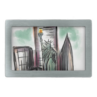Statue of Liberty Products Rectangular Belt Buckle