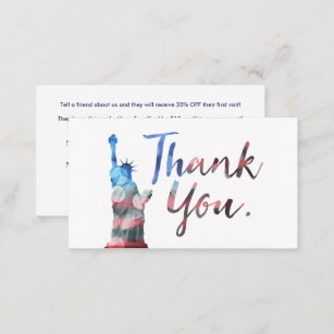 Refer a friend business cards zazzle statue of liberty refer a friend program business card colourmoves