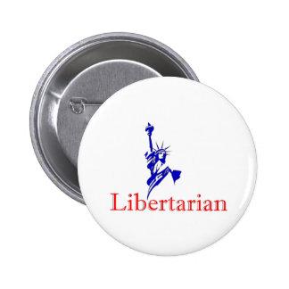Statue of Liberty -- Retro Libertarian icon Pinback Button