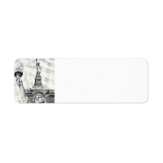 Statue of Liberty Return Address Labels