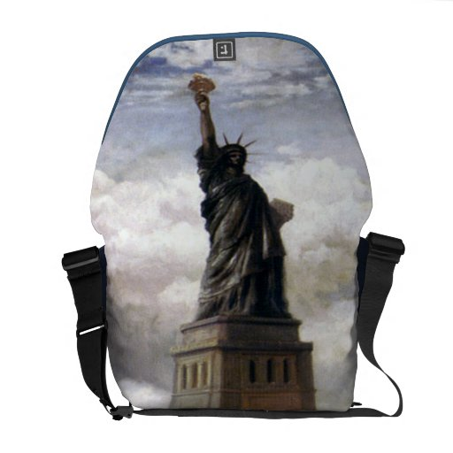 Statue of Liberty Rickshaw Messenger Bag