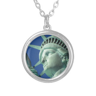 Statue of Liberty Round Pendant Necklace