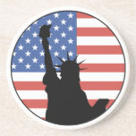 Statue Of Liberty Sandstone Coaster