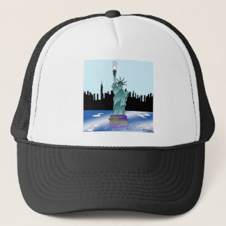 Statue of Liberty Saving Energy Trucker Hat