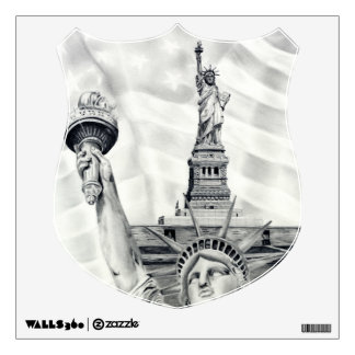 Statue of Liberty Shield Wall Decal