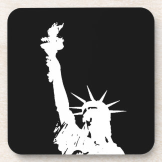 Statue of Liberty Silhouette Beverage Coaster