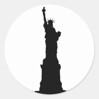 Statue of Liberty Silhouette Classic Round Sticker