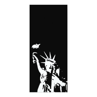 Statue of Liberty Silhouette Invitation