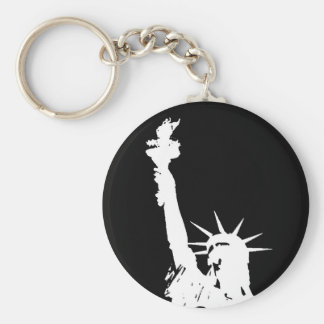 Statue of Liberty Silhouette Keychain