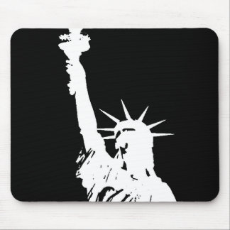 Statue of Liberty Silhouette Mouse Pad