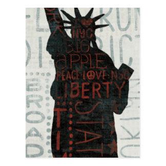 Statue of Liberty Silhouette Postcard