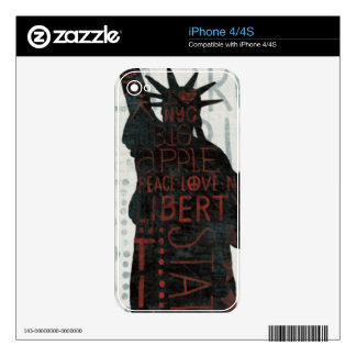 Statue of Liberty Silhouette iPhone 4 Decals