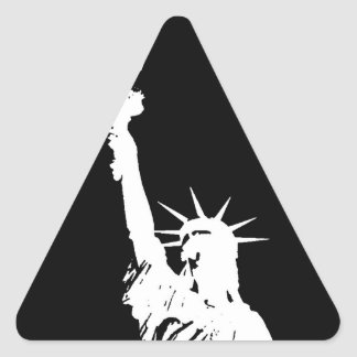 Statue of Liberty Silhouette Triangle Stickers