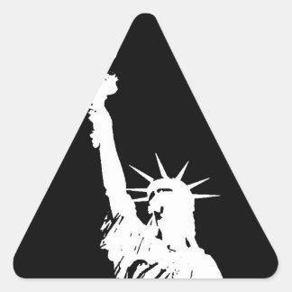 Statue of Liberty Silhouette Triangle Sticker