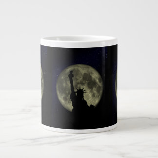 statue of liberty 20 oz large ceramic coffee mug