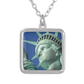 Statue of Liberty Square Pendant Necklace
