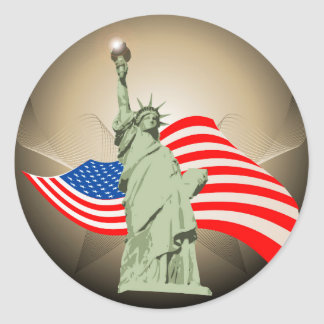 Statue of Liberty Round Stickers
