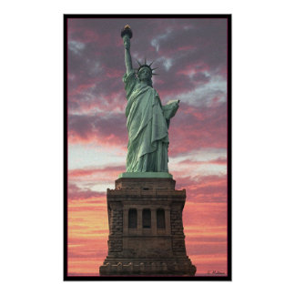 Statue of Liberty / Sunset Posters