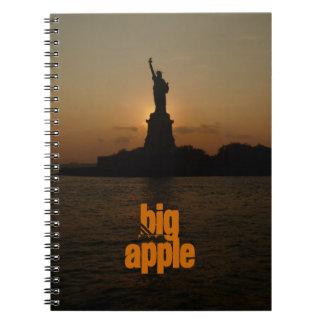 Statue of Liberty-Sunset Spiral Notebook