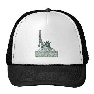 STATUE OF LIBERTY - T JEFFERSON QUOTE - FIREARMS TRUCKER HAT