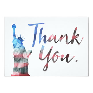 Statue of Liberty Thank You Veterans Card