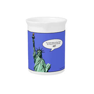 statue-of-liberty - THE BOSS LADY Beverage Pitcher