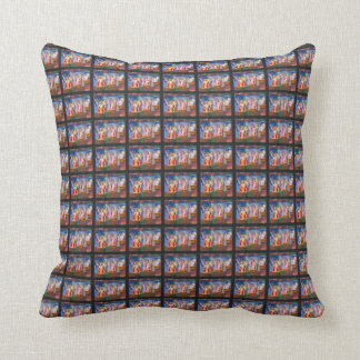 Statue of Liberty tile painting throw pillows
